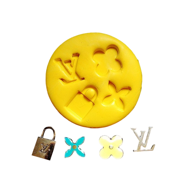 c18576410f96 LV Louis Vuitton logo style Silicone mold