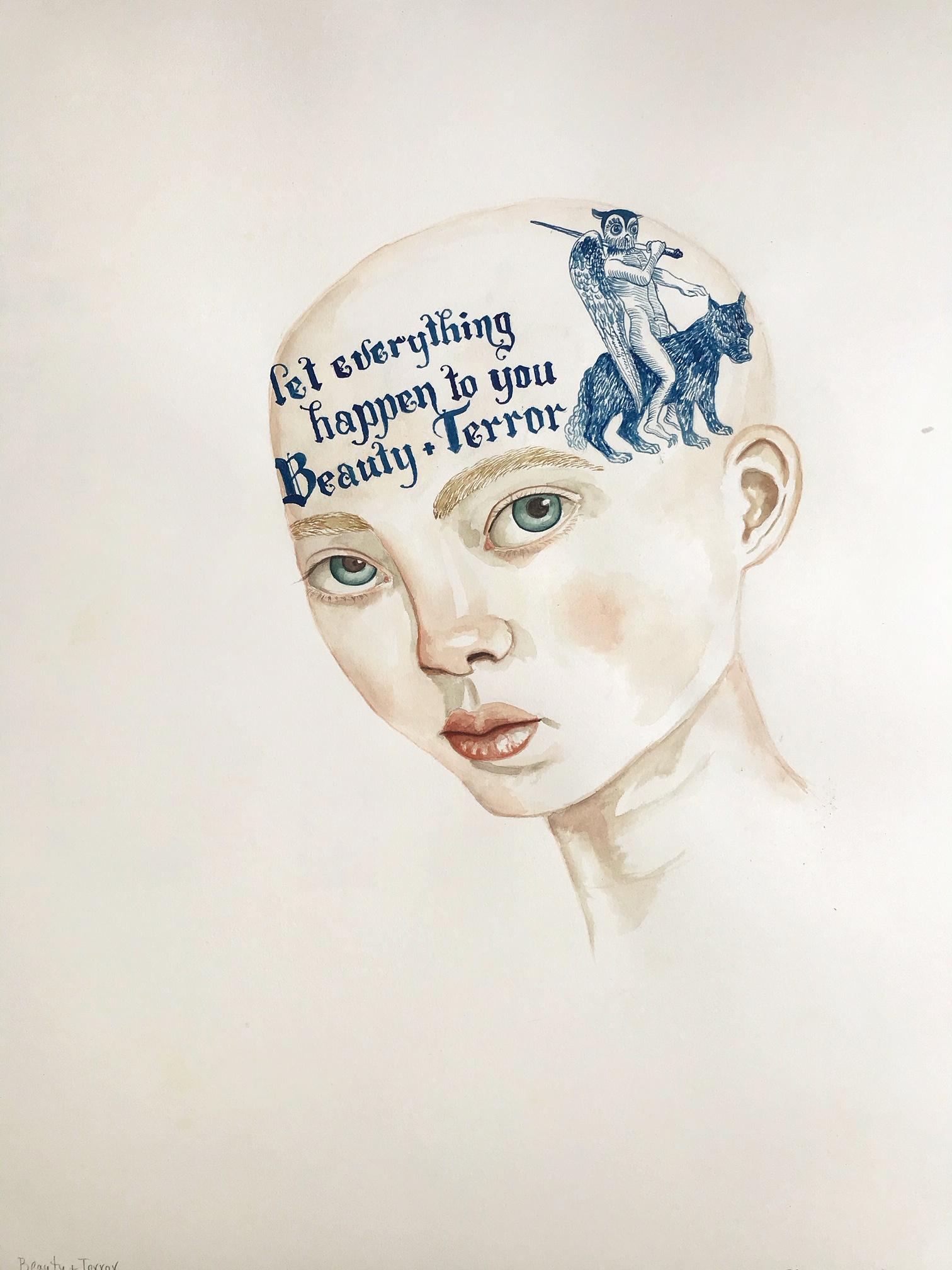 """Beauty + Terror (29x23"""")"""