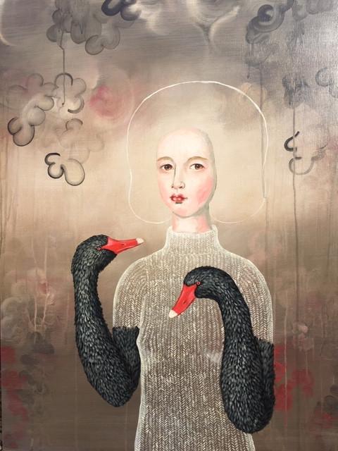 "Black Swan Arms III 30x24"" (2019)"