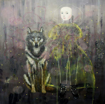 Wolf &Girl  48x48