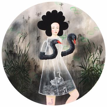 """Black swan Arms 48"""" diam (2019)"""