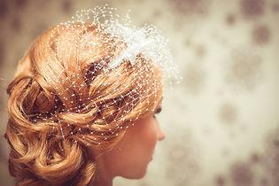 Un hermoso peinado de novia.