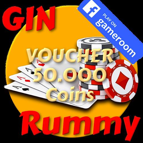 Get  50.000 Coins Gin Rummy FB Gameroom
