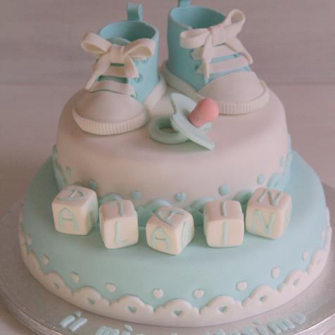 Baptism blue cake