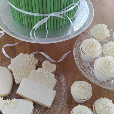 wedding cupcakes and cookies
