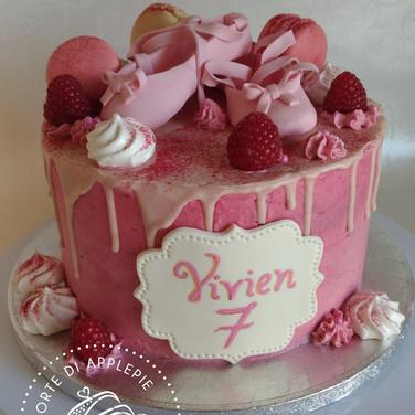 drip ballerina cake