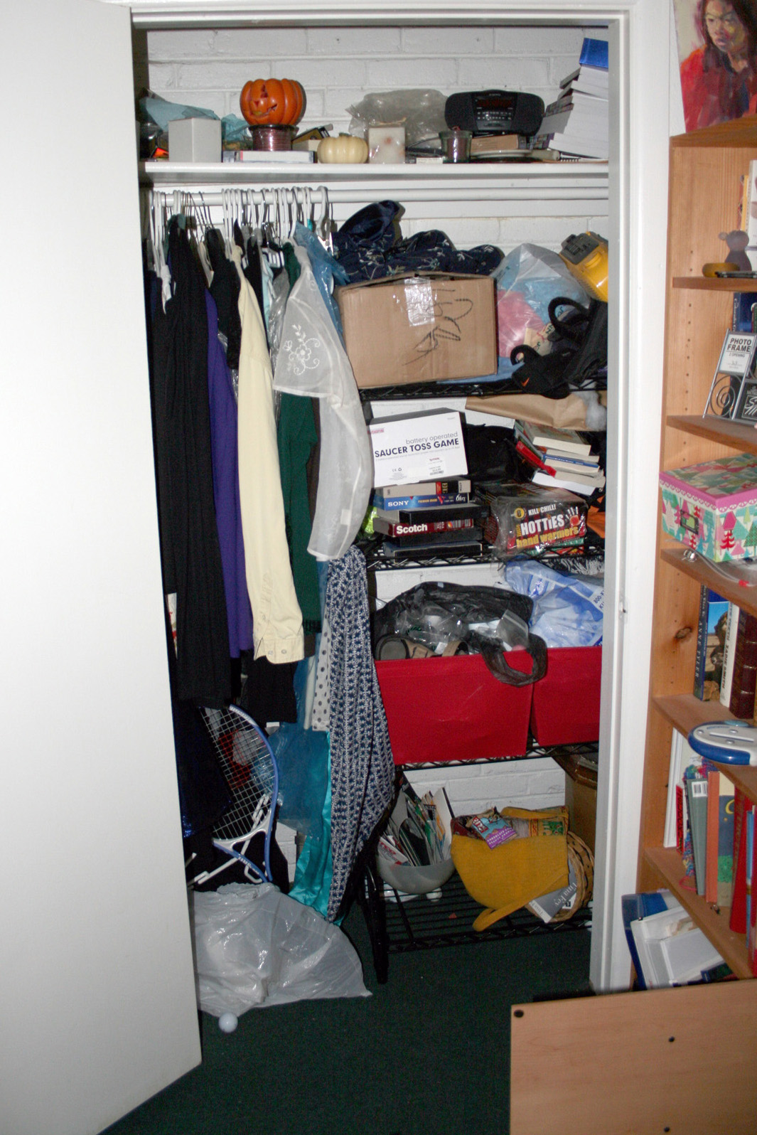 STORAGE CLOSET — BEFORE