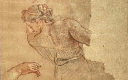 Cat. 2018 D. 13 - Étude de femme avec reprises du bras droit et des mains