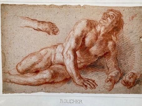 Cat. 2009 D. 4 - Homme nu allongé avec reprise de la main et du pied gauche