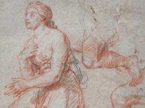 Cat. 2010 D. 40 - Étude de femme agenouillée avec reprises des jambes et de la main gauche