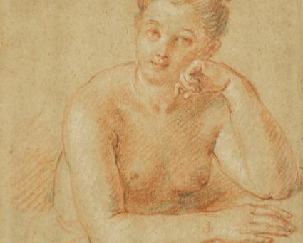 Cat. 2014 D. 30 - Portrait de femme avec reprises des mains