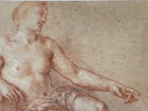 Cat.2012 D. 33 - Étude de femme assise, le bras gauche vers l'avant