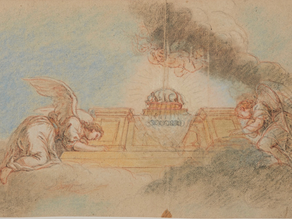 Cat. 2016 D. 22 - Étude de plafond: deux anges soutenant un autel