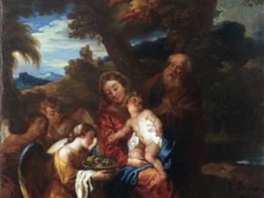 Cat. 2019 P. 1 - La Sainte famille pendant la fuite en Égypte servie par les anges
