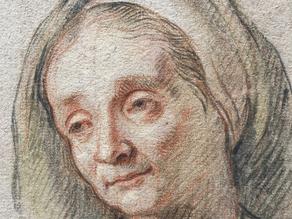 Cat. 2019 D. 3 - Tête de femme portant un voile: étude de Sainte Anne