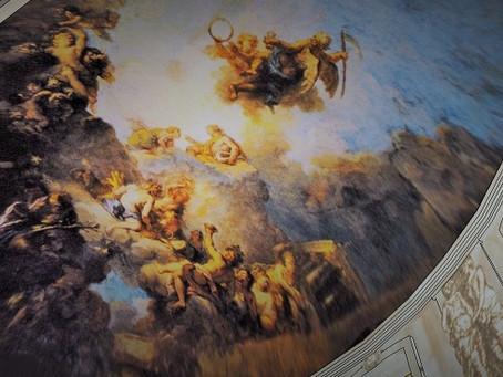 Le plafond de Phaéton par Charles de La Fosse pour Pierre Crozat à Montmorency