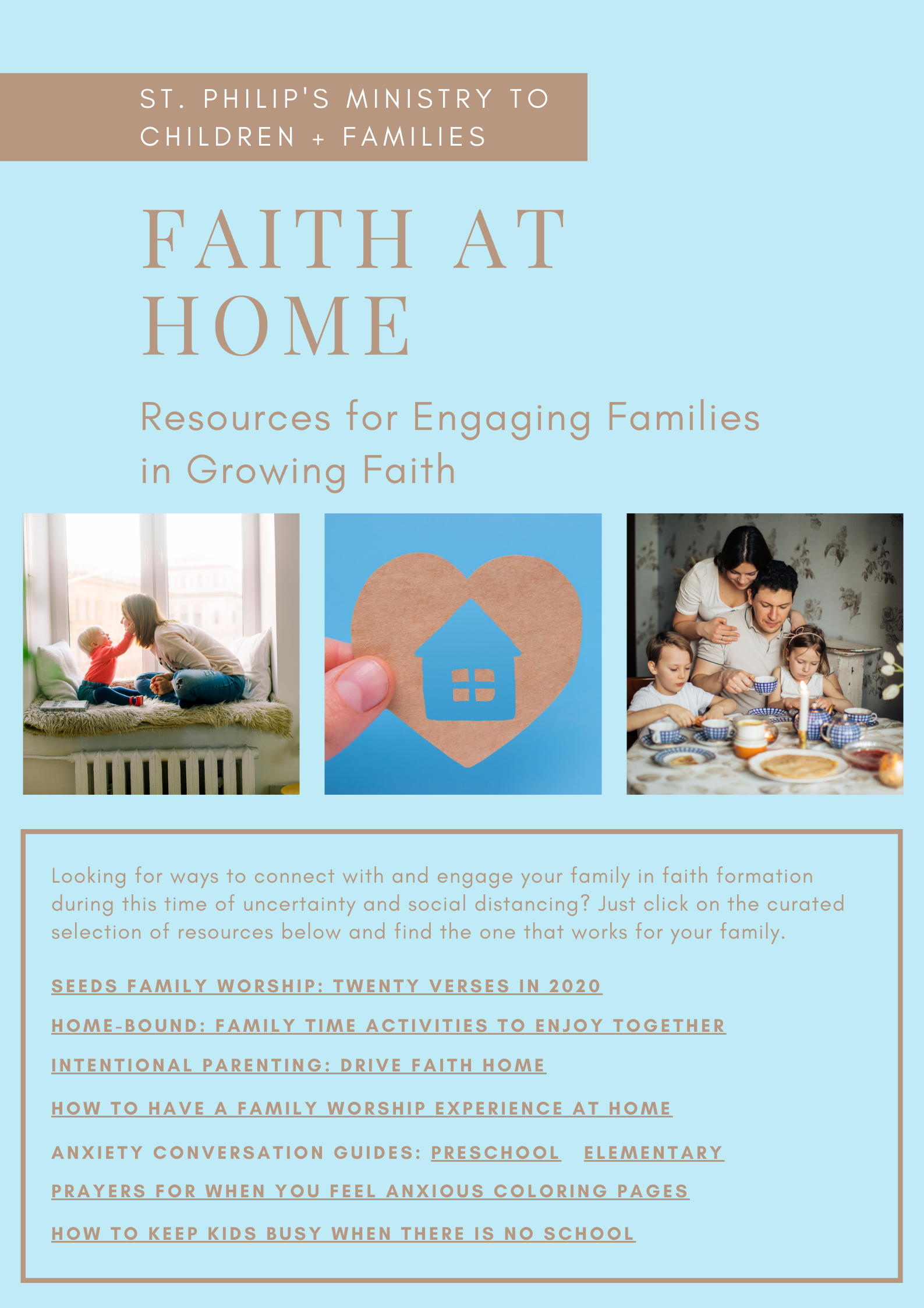 Faith at Home Resources