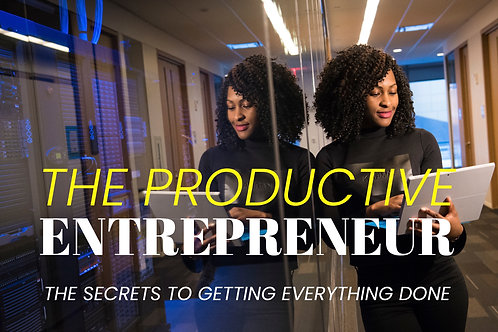 The Productive Entrepreneur - Secrets to Getting Everything Done
