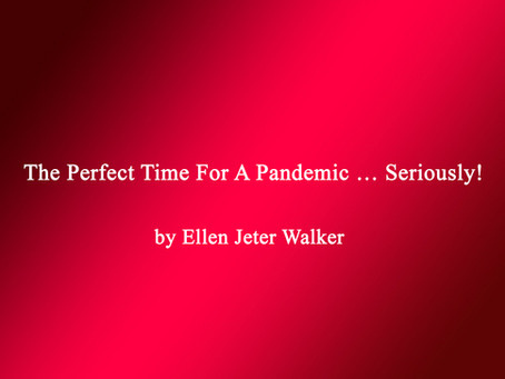The Perfect Time For A Pandemic … Seriously!