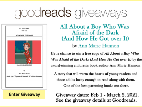 Goodreads Book Giveaway - All About a Boy Who Was Afraid of the Dark by Ann Marie Hannon