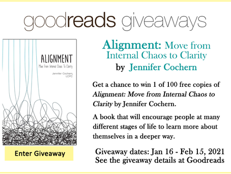 Goodreads Book Giveaway - Alignment: Move from Internal Chaos to Clarity by Jennifer Cochern