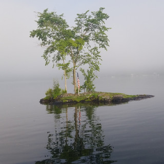 Rock Island on Loon Lake