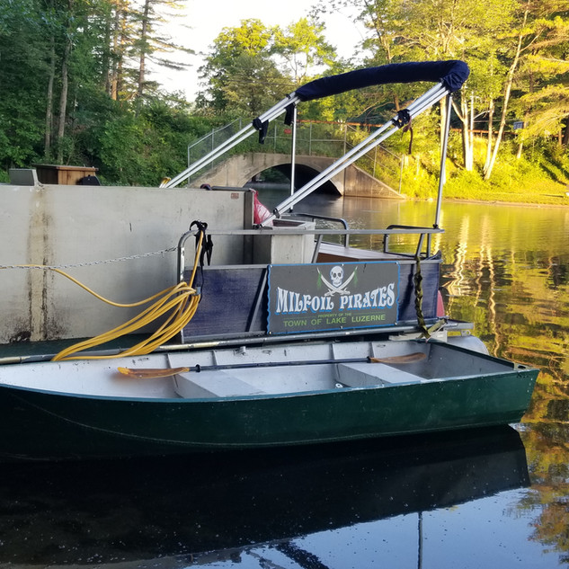 Milfoil Pirates at Lake Luzerne NY