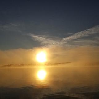 Sunrise at Chazy Lake