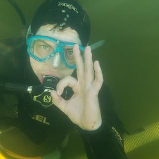 Underwater and OK!
