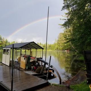 Rainbow over the Oliphant - Minerva Lake