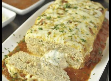 Stuffed Chicken Parmesan Meatloaf