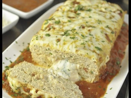 Stuffed Chicken Parmesan Meatloaf