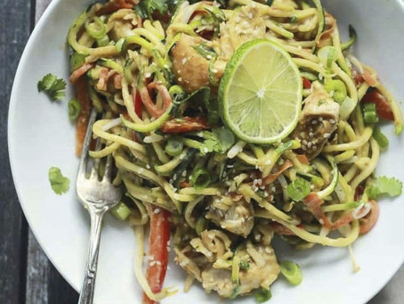 Grilled Asian Chicken Zoodles