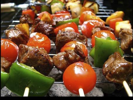 Healthy Sirloin & Vegetable Kabobs