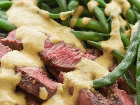 Mustard-Shallot Sauce Steak