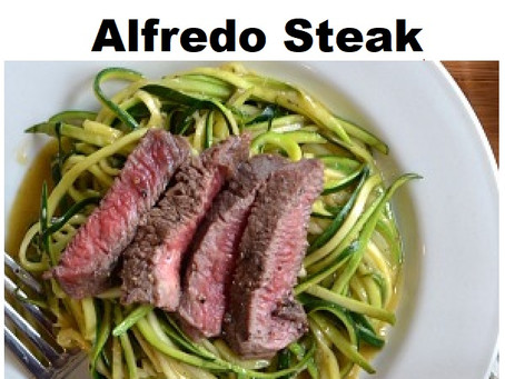 Spring Horseradish Alfredo Steak