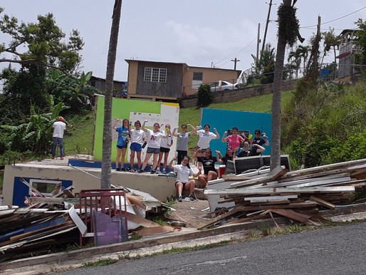 Troopers from the Academy of the Holy Angels traveled to Puerto Rico for a week of service