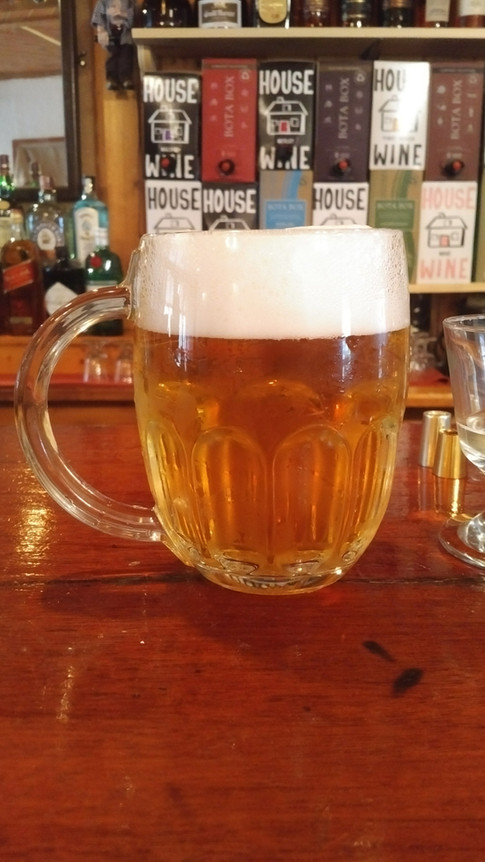 Our house beer Pilsner Urquell from sunny Czech republic!