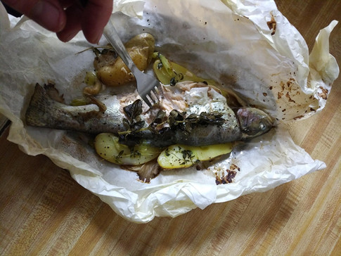 Trout in a Pouch after oven