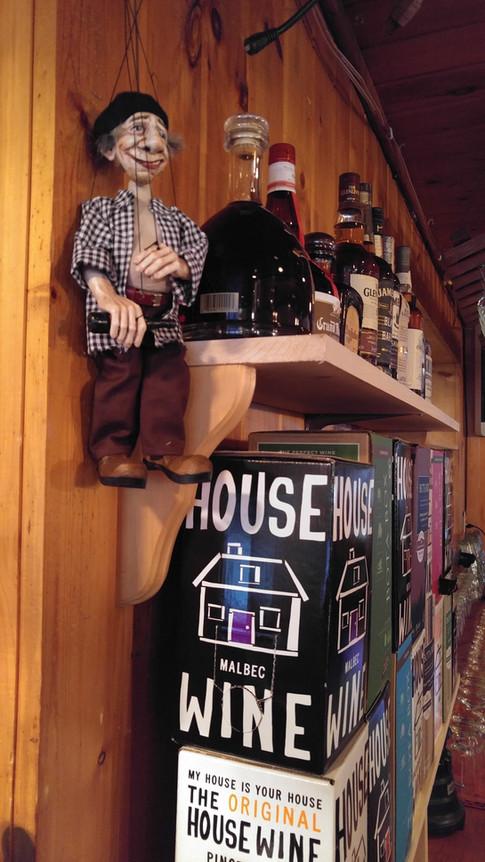 Franta our mascott loves box wine!