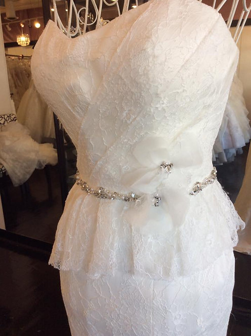 Soft flirt ivory lace with jeweled belt