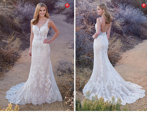 Dreamy all lace flowing with square back beauty