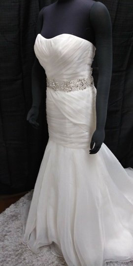 Ivory Modern Sophisticated Casual Wedding Dress