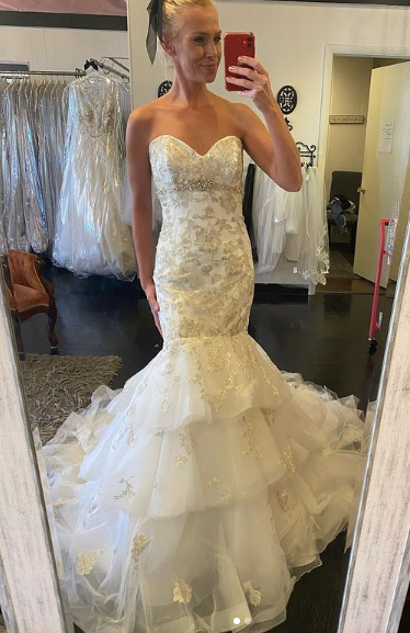silver and gold size 10 Maggie Sottero