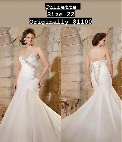 Elegance personified in this sz 26 lace-up gown by Mori Lee