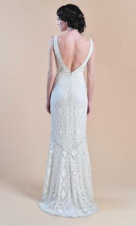 Claire Pettibone  Madeleine luxurious lace sz 6 BOHO