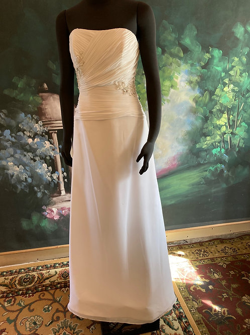 pop-up wedding dress size 8 in white