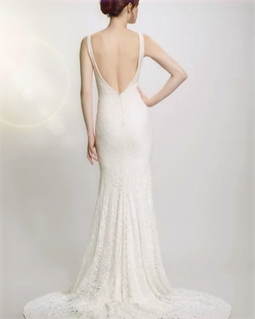 elegant all lace ivory gown capture his heart