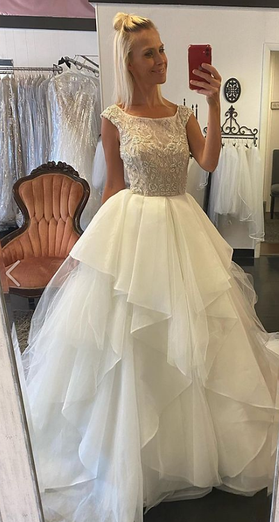 All for LOVE with this sz 8 modern sassy ballgown