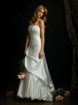 ALLURE 8507 WHITE SZ 12 FIT N FLARE WEDDING DRESS